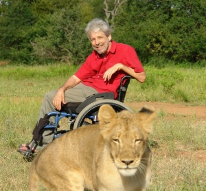 That's no service lion! Travel photo courtesy www.rollingrains.com wheelchair travel blog.